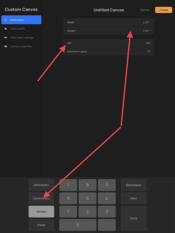 How to build a Procreate custom canvas.